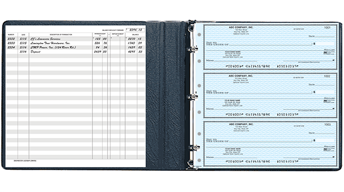Business Size Checkbook Covers : Ring business check binders trend rings
