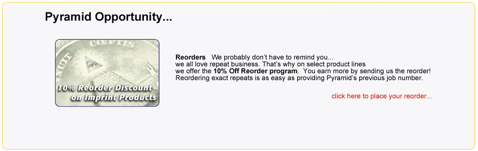 10% Off Reorder Program